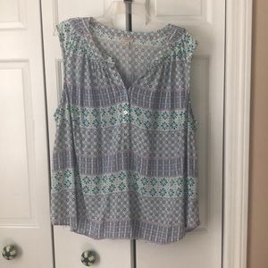 Talbots tank top blouse